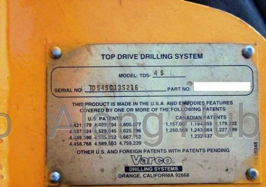 Top Drive Drilling System 4S Nov